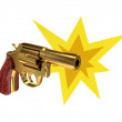 Shoting revolver. - Stock Photo