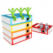 Stock Photo: 3d small and colorful folders.