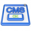 CMS button. — Stock Photo