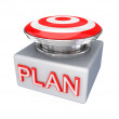 Red button with a word PLAN. — Stock Photo