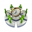 3d small around clock. — Stockfoto