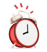 Ringing vintage alarm clock isolated on white background. — Stock Photo