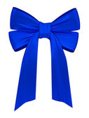 Blue satin ribbon — Stock Photo