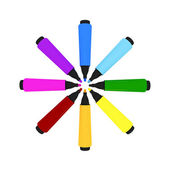 Colorful marker-pens — Stock Photo