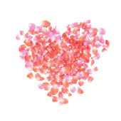 Petals heart — Stock Photo