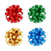 Colorful bows set. — Stock Photo