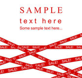 Red SALE ribbon. — Stock Photo