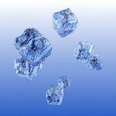Fondo del cubo de hielo. — Foto de Stock