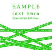 Green SALE ribbon. — Stock Photo