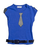 Blue children's knitted-jacket. — Stock Photo