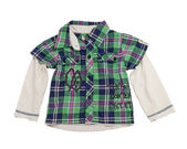 Children's checkered shirt. — Stockfoto