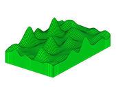 Topografic 3d grid. — Stock Photo