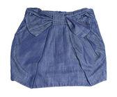 Children's jeans skirt — Stock Photo