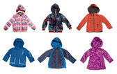 Children's warm jackets — Stock Photo