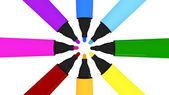 Färgglada märkpennor — Stockfoto