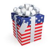 American gift box. — Stock Photo