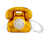 Golden rentro telephone. — Stock Photo