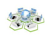 Nätverket koncept. — Stockfoto