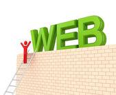 Word WEB on a big wall — Stock Photo