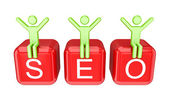 Small and word SEO. — Stock Photo
