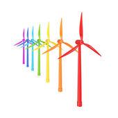 Moinhos de vento coloridos — Fotografia Stock