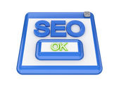 SEO button. — Stock Photo