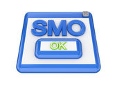 SMO button. — Stock Photo