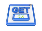 GET button. — Stock Photo