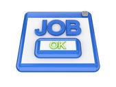 JOB button. — Stock Photo