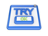TRY button. — Stock Photo