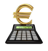 Calculator and euro sign.I — Stock Photo