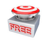 FREE button. — Stock Photo