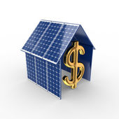 Conceito de energia solar. — Foto Stock