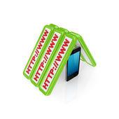 Mobile internet concept. — Stock Photo