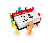 3d small and calendar. — Stock Photo