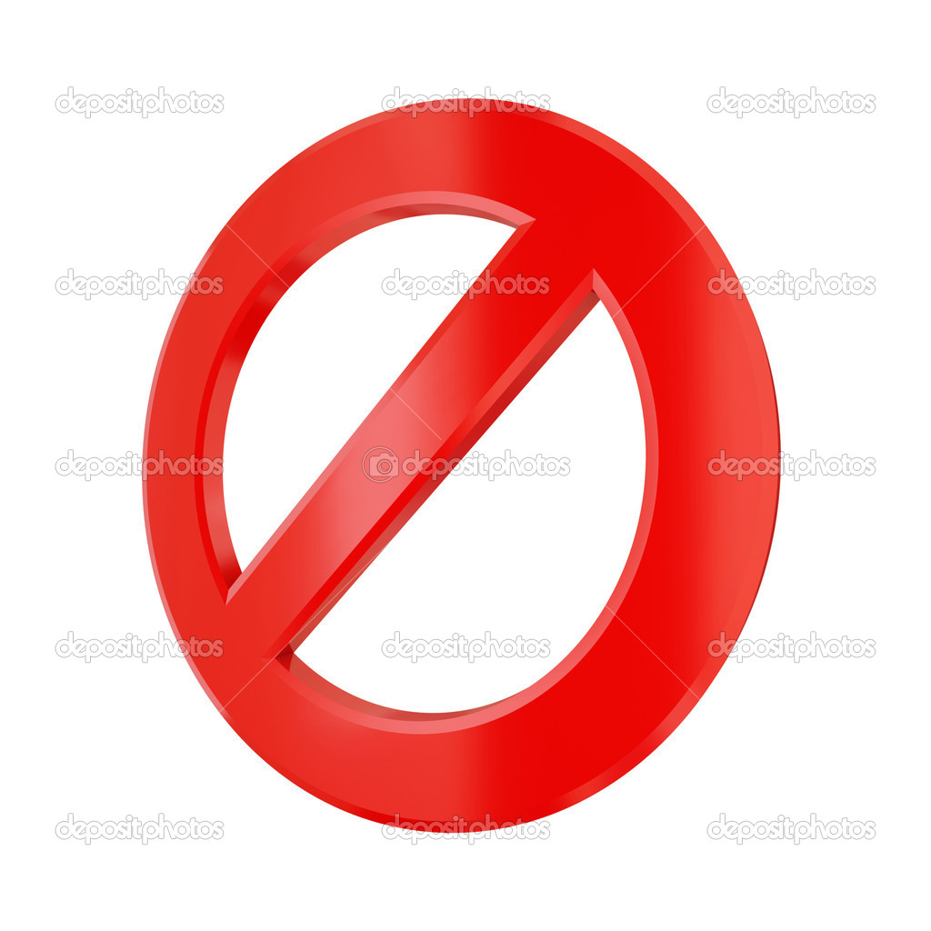 3d rendered stop sign isolated on white. 3d rendered. — Stock Photo #8432585