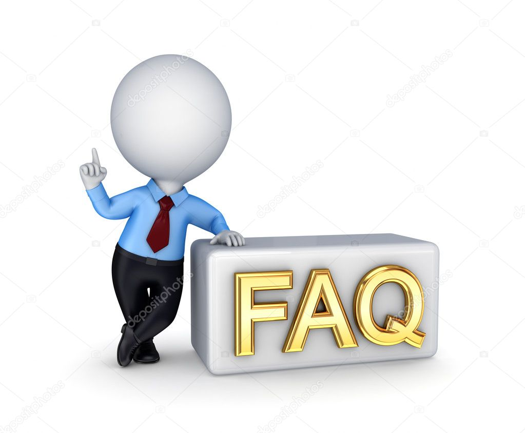 FAQ concept.Isolated on white background.3d rendered. — Stock Photo #8440994