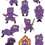 Постер, плакат: A set of ninja