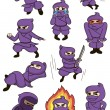 Set of ninja — Stock Vector #9260589