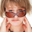 European girl with a grimace on a face — Stock Photo