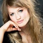 European blonde girl — Stock Photo