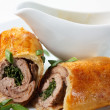 Veal Baked in Puff Dough — Stock Photo