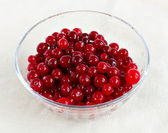 Cranberries in a salad-bowl — Stock Photo