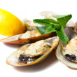 Mussels baked with parmescheese — Stock Photo #9198720