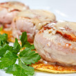 Pork medallions with potato pancake — Stock Photo #9690994