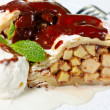 Apple Strudel close-up - Stock Photo