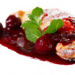 Cherry Strudel close-up — Stock Photo