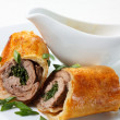 Veal Baked in Puff Dough — Stock Photo #9704491