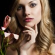 Lily fashion portarit, she is in front of the camera - Stockfoto