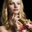 Lily fashion portarit, she looks at left — Stock Photo #10443348